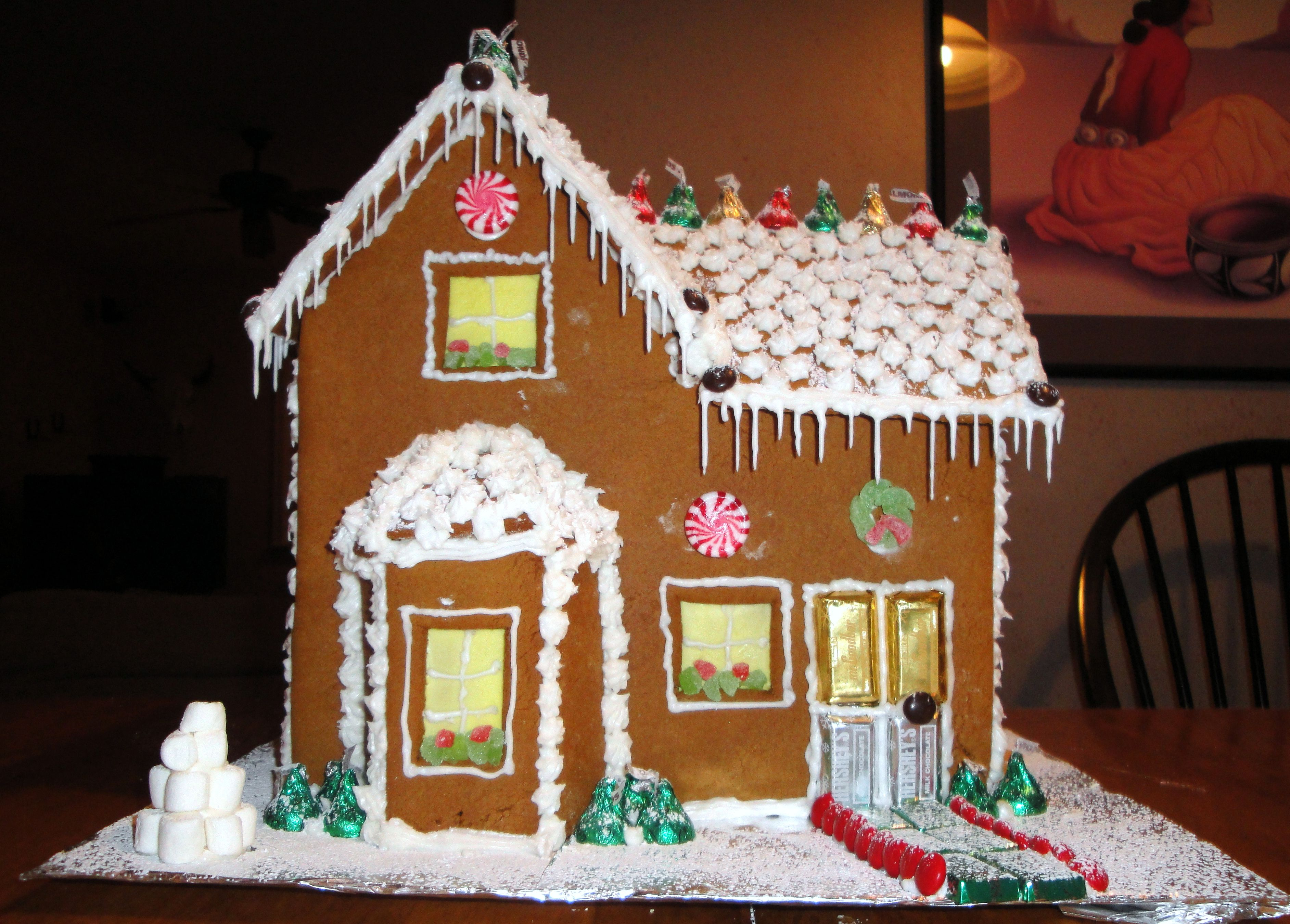Decorate gingerbread house garden city ny