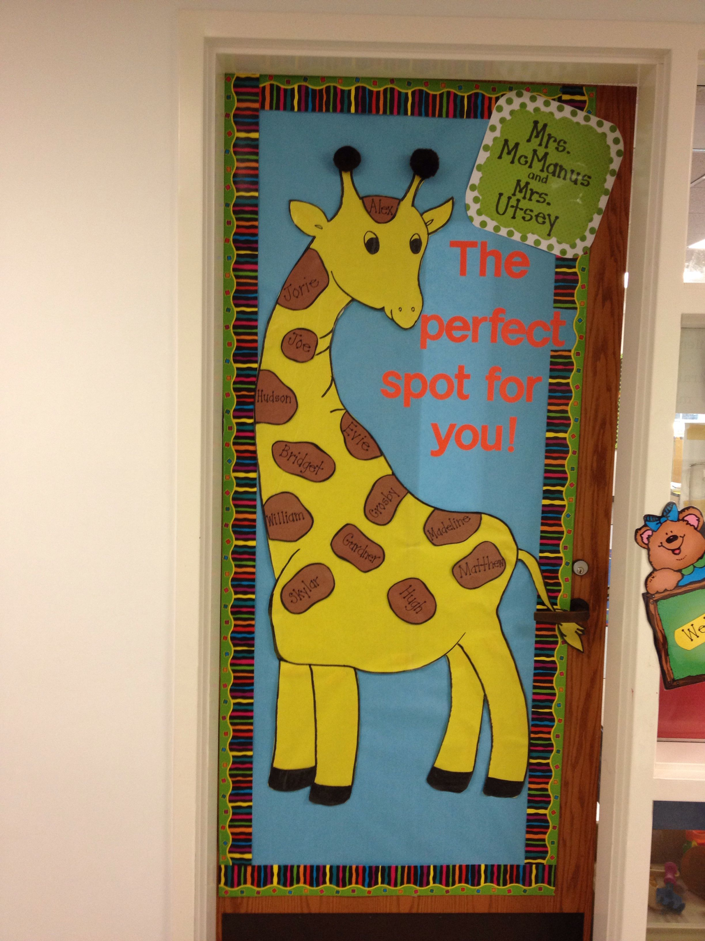 Preschool Doorbulletin Board Idea Giraffe The Perfect Spot For You