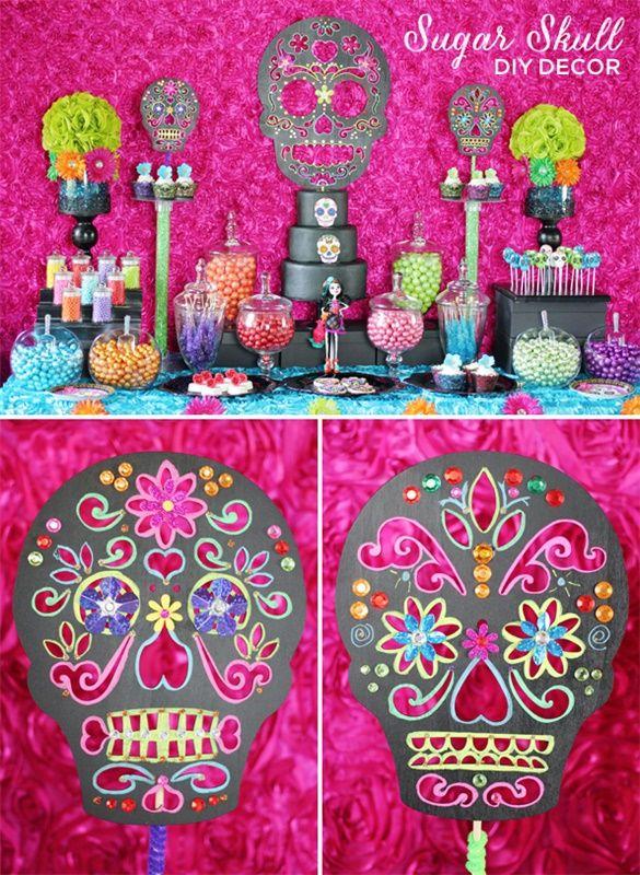 also trend alert diy day of the dead sugar skull party rh pinterest