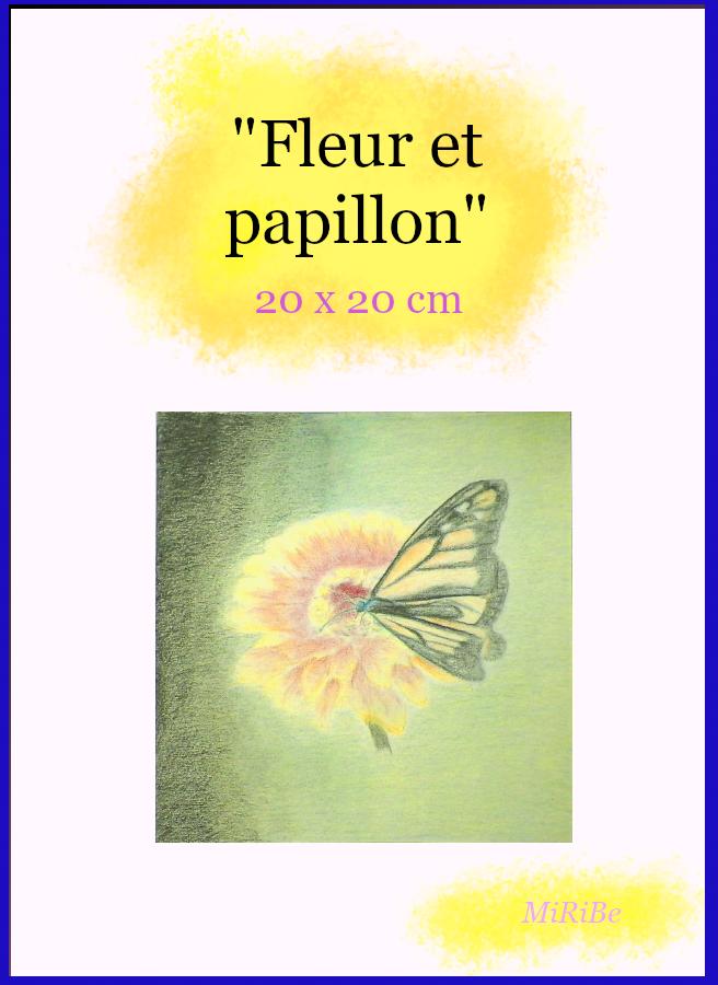 Papillon Posé Sur Une Fleur Dans Un Contraste De Couleurs Dessins