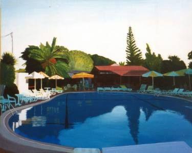 """Jiri Votruba; Painting, """"Quiet Week in Hotel Asterias 1"""" #art"""