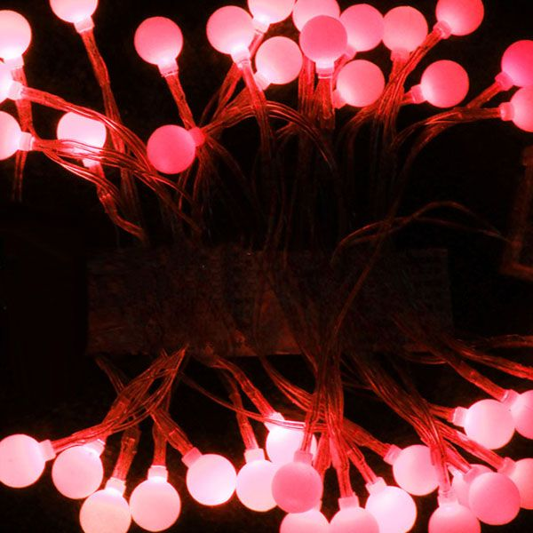 10M Led Cherry Solar Fairy Lights for Gardens/Parties