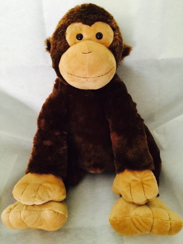 f8c25eafe86 Toys R US Animal Alley Large Monkey Plush Stuffed Animal Soft Brown Tan 22  Inch