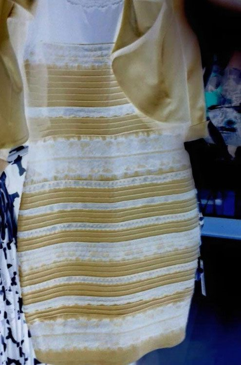 Dress controversy blue black white gold