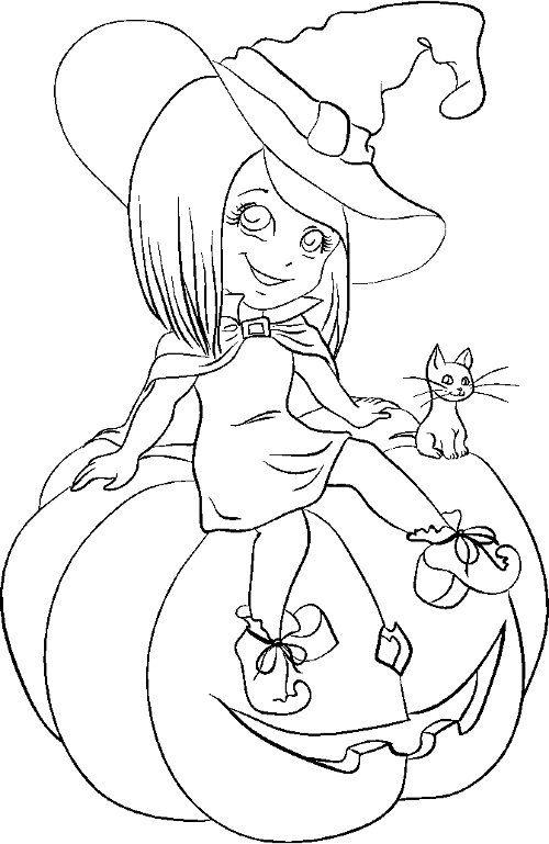 Halloween Para Colorear Buscar Con Google Halloween Para Colorear Dibujos De Halloween Bruja Para Colorear