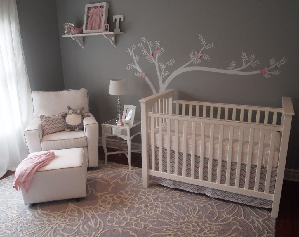 Best Pink And Grey Nursery Images On Pinterest Nursery Ideas - Pink and grey nursery decor