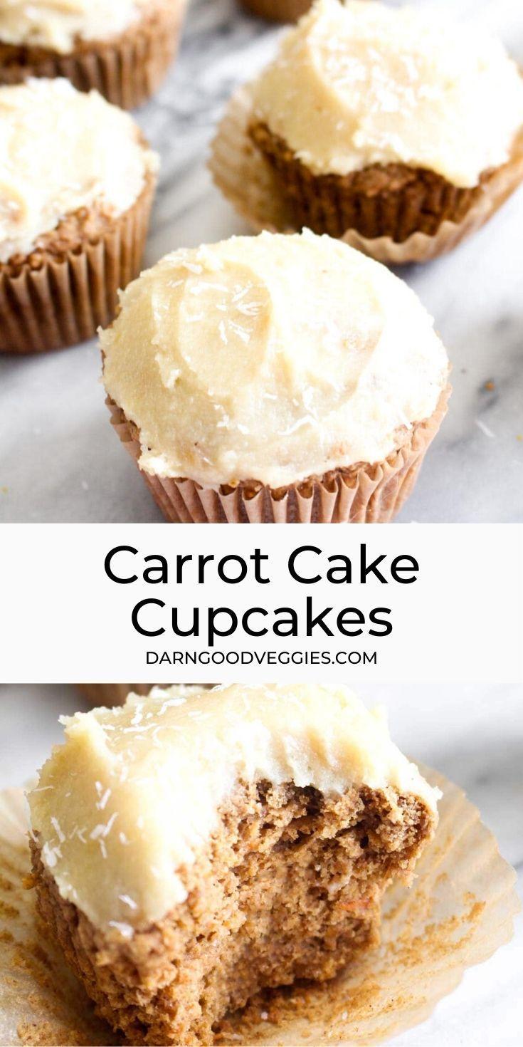 Gluten free carrot cake cupcakes with cashew cream cheese