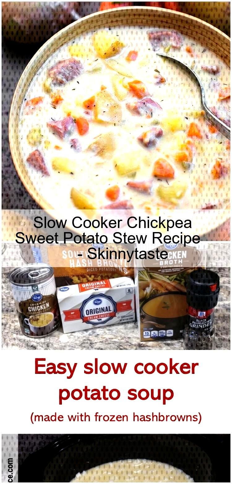 Slow Cooker Chickpea Sweet Potato Stew Recipe - Skinnytaste Slow Cooker Chickpea Sweet Potato Stew