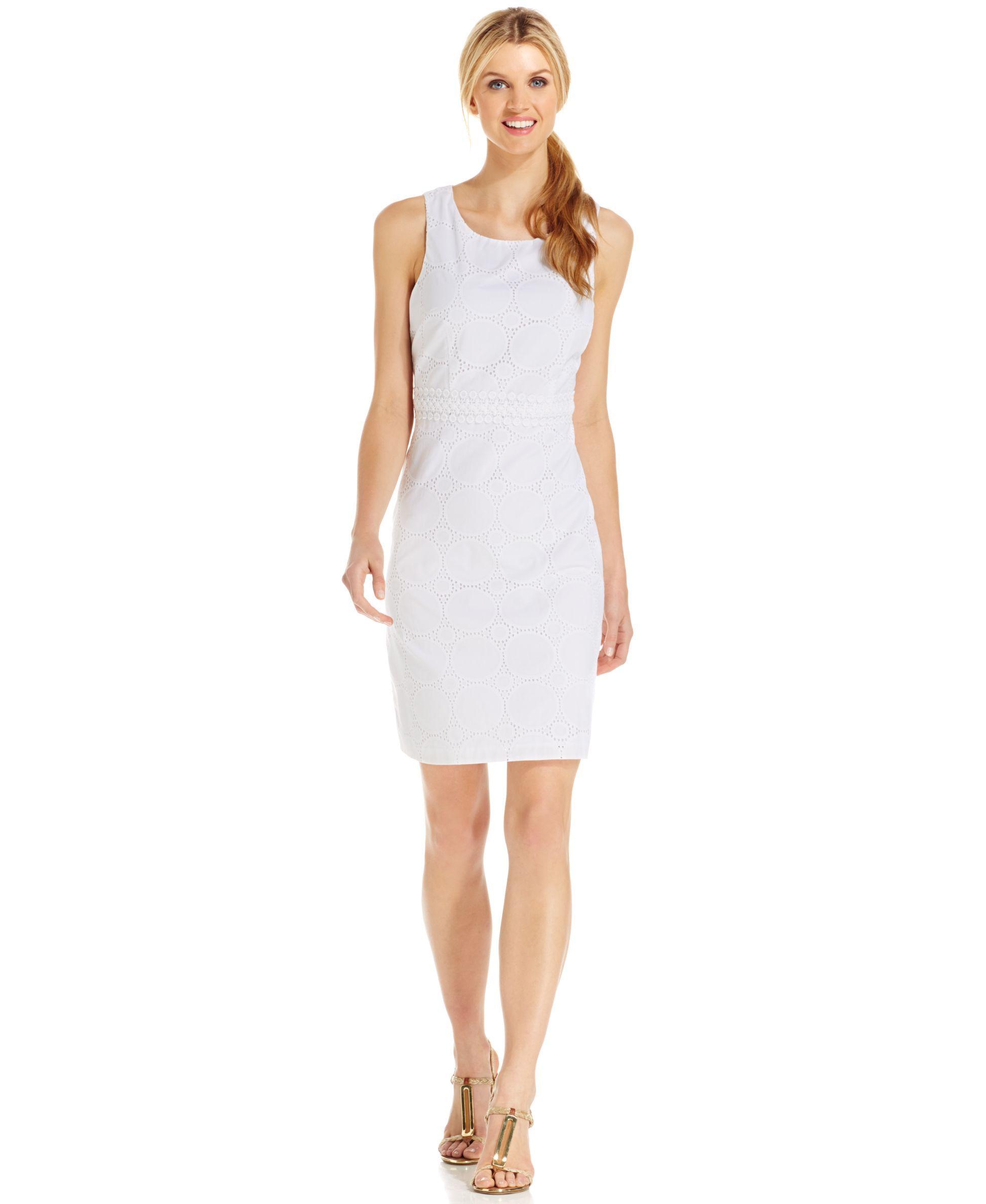 Jessica Howard Petite Eyelet Sheath Dress