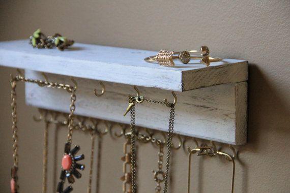 Rustic Jewelry Storage Wall Mounted Jewelry Display