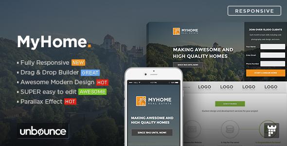MYHOME - Real Estate Unbounce Template #Real, #MYHOME, #Estate, #Template