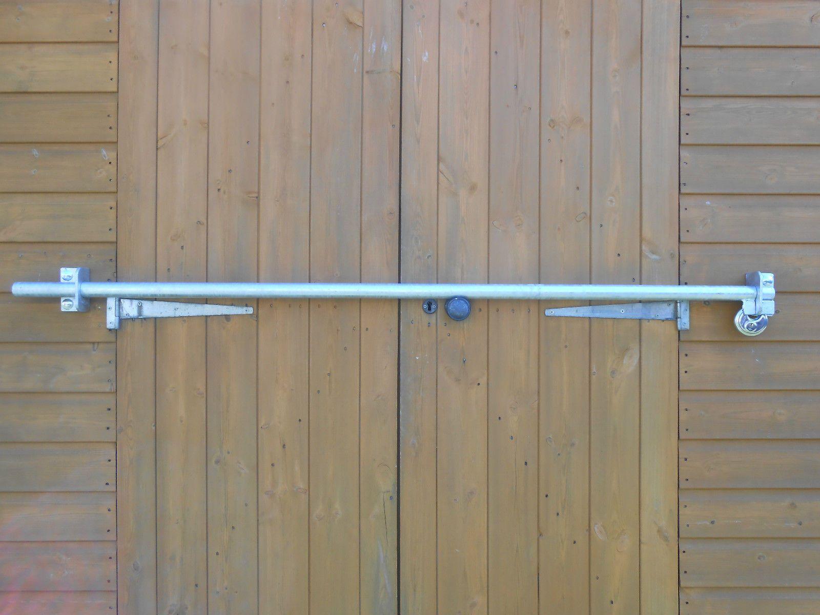 Shed Door Security Bar Heavy Duty Diy Galvanised 1100mm Free Stainless Lock Ebay Security Door Shed Doors Diy Home Security