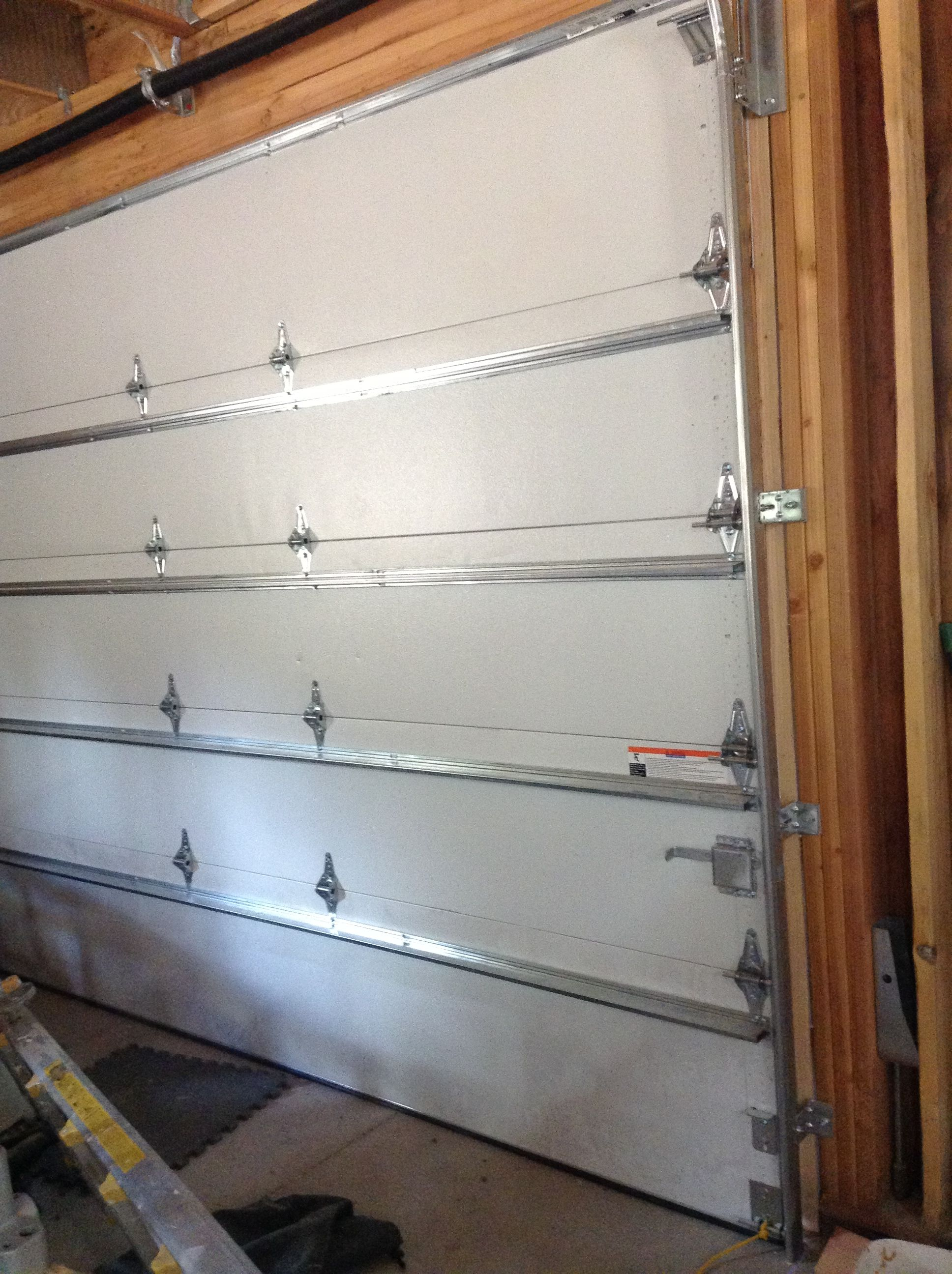 Ordinary Insulated Steel Sectional Garage Door These 10 Sections Weigh 325 Lbs Cost For Two 10 Sectional Garage Doors Wooden Garage Doors Garage Door Cost