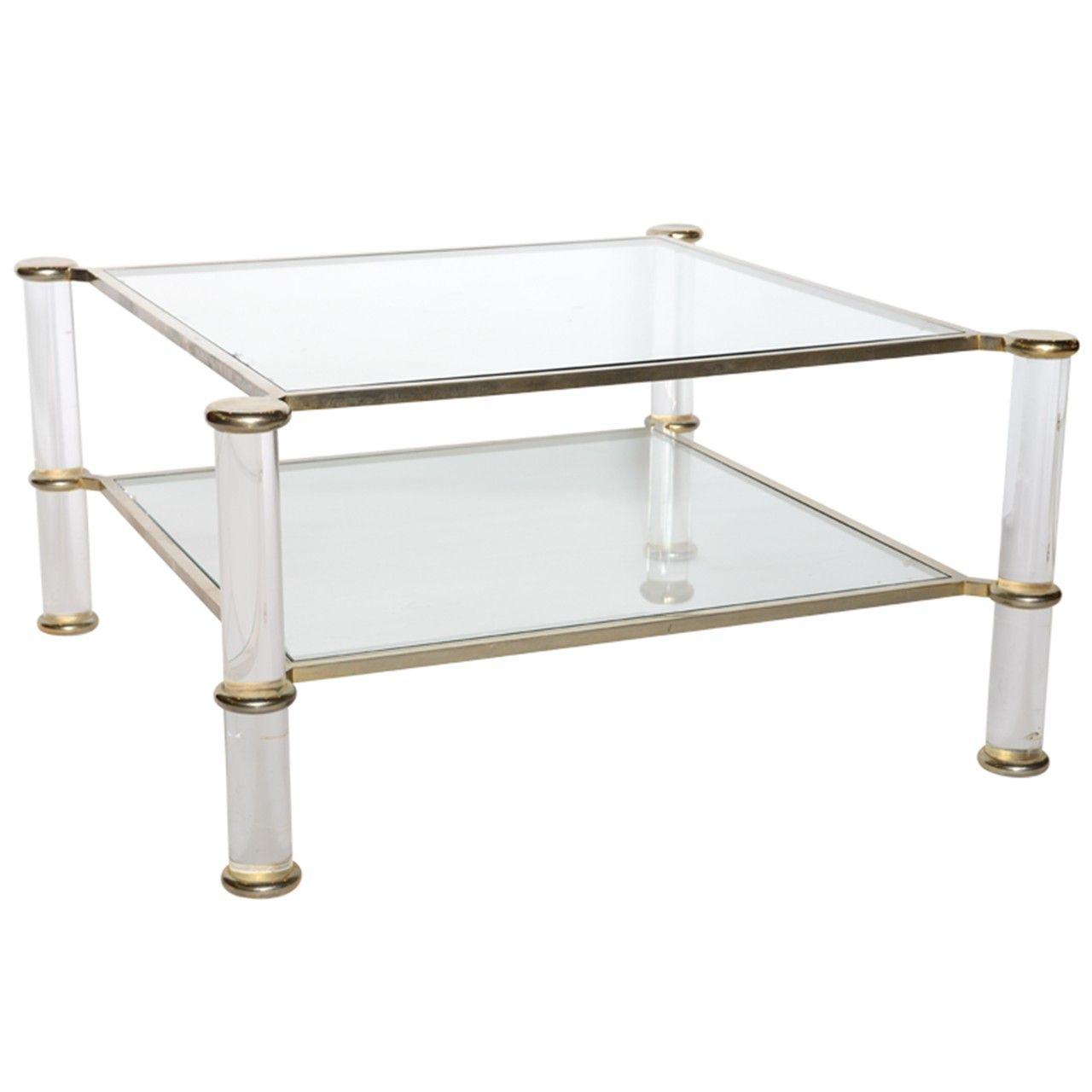1stdibs A Lucite Glass Chrome And Brass Low Table Attributed To Charles Hollis Jones Coffee Table Coffee Table Inspiration Fancy Coffee Table [ 1280 x 1280 Pixel ]