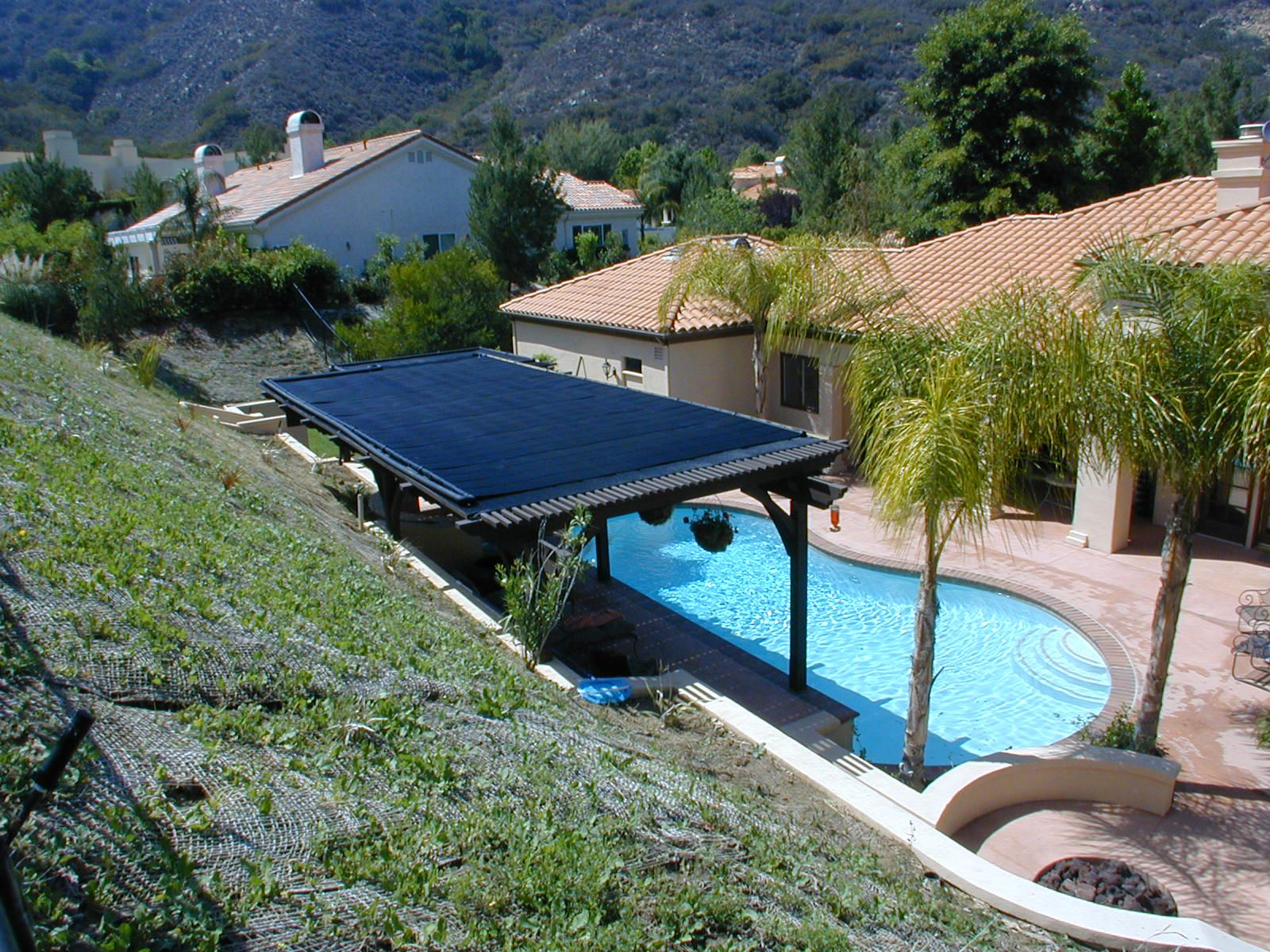 Heliocol Solar Pool Heating Panels On Patio Rooftop