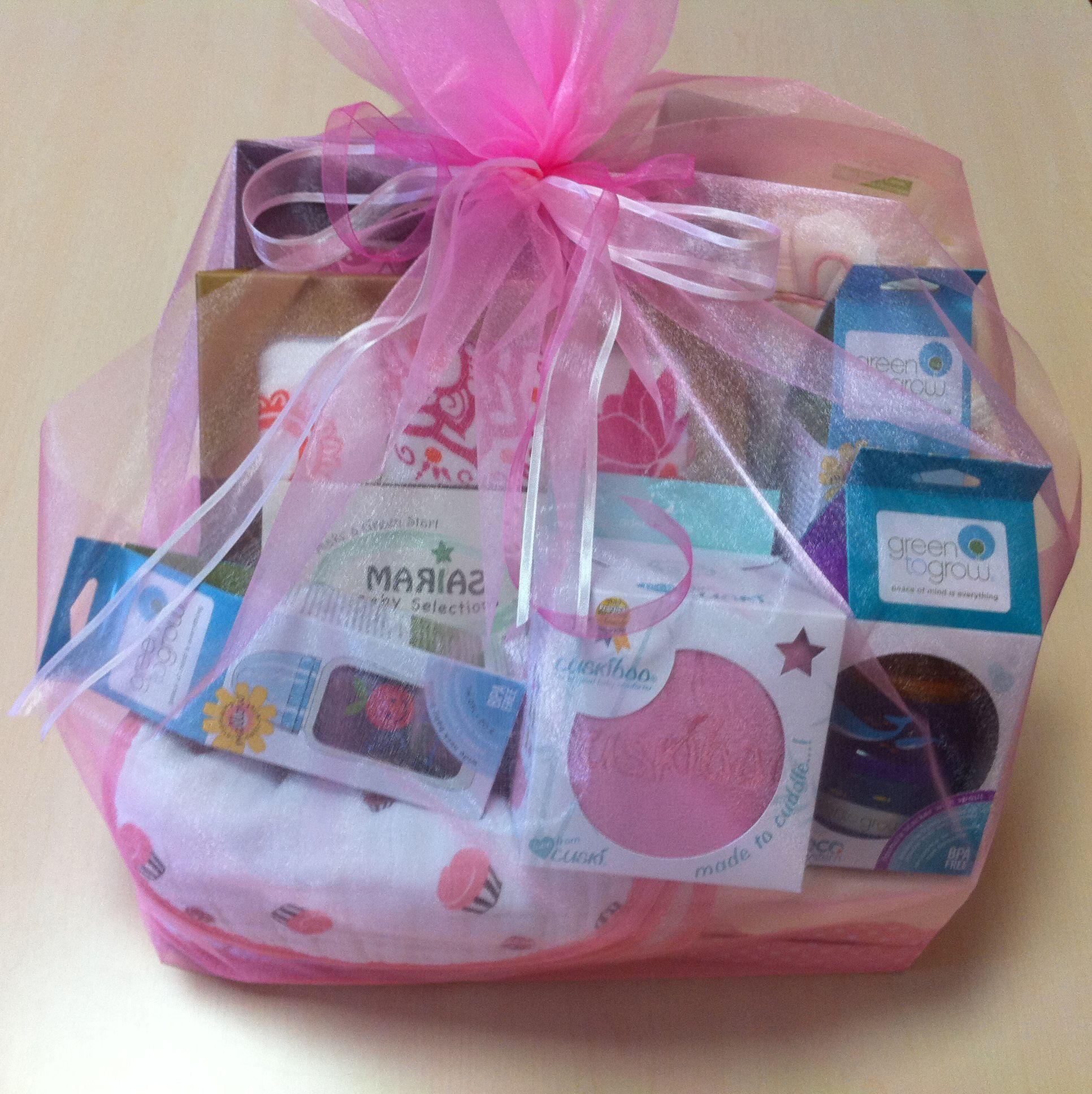 Welcome baby girl gift basket newborn gift ideas pinterest welcome baby girl gift basket negle Gallery