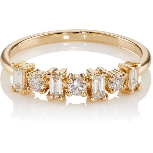 Womens Baguette White Diamond Ring Ileana Makri gM2gCCX