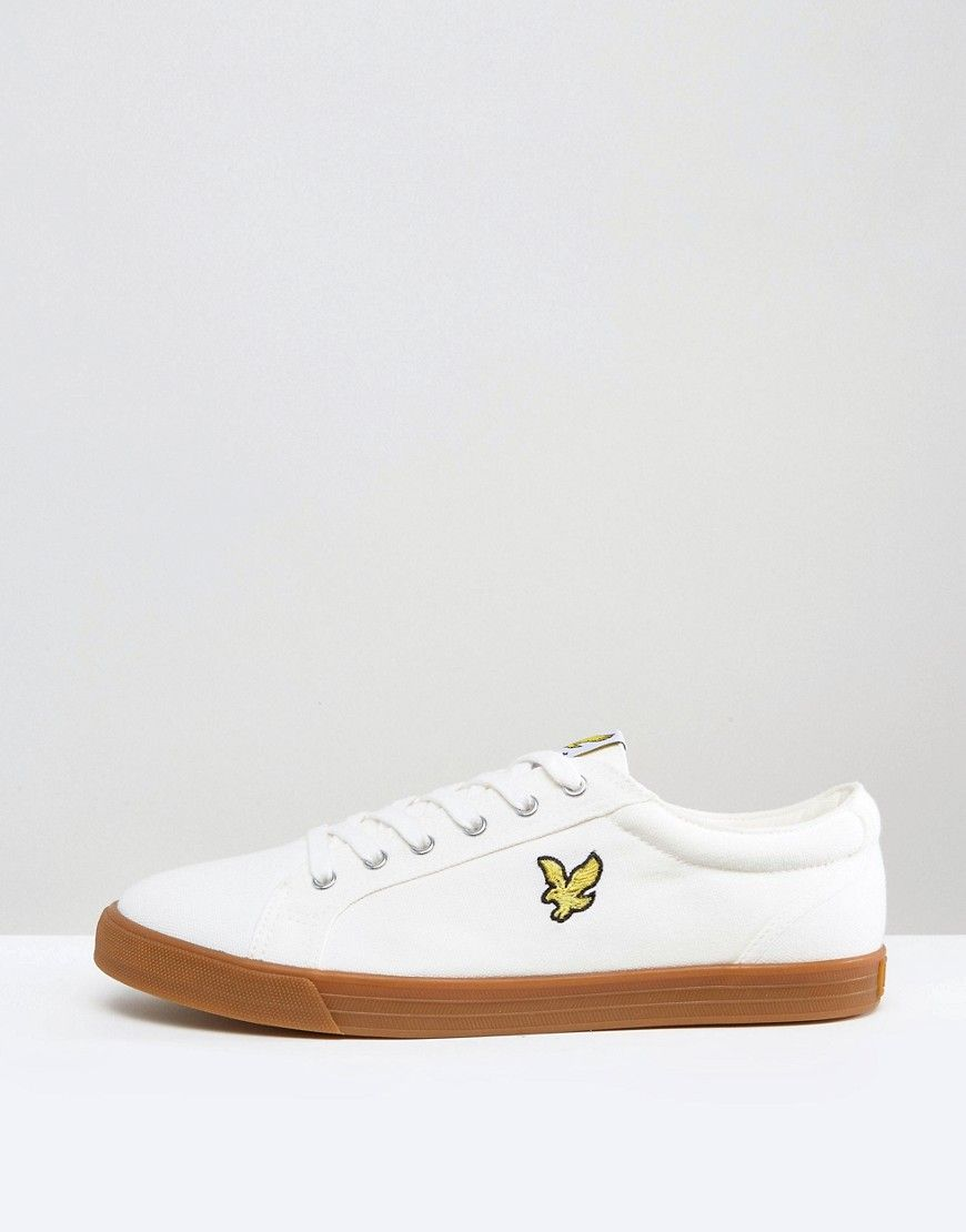 Lyle And Scott Hawker Sneakers In White Gum sole - White