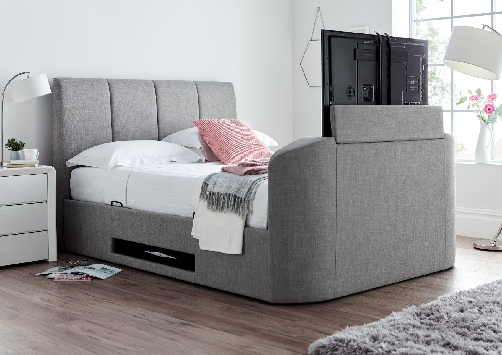 Remarkable Copenhagen Upholstered Ottoman Tv Bed Mid Grey In 2019 Theyellowbook Wood Chair Design Ideas Theyellowbookinfo