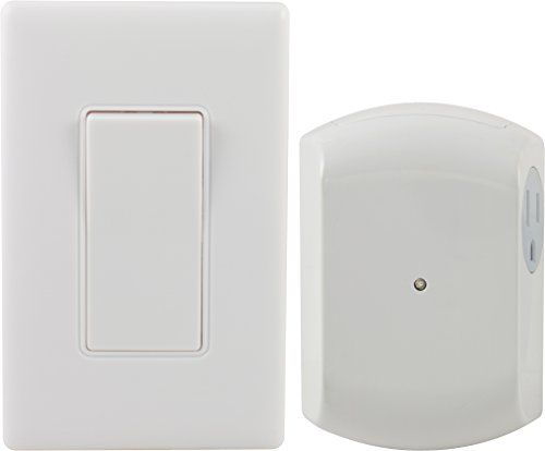 ge wall switch light control remote with 1 outlet receiver on wall control id=73338