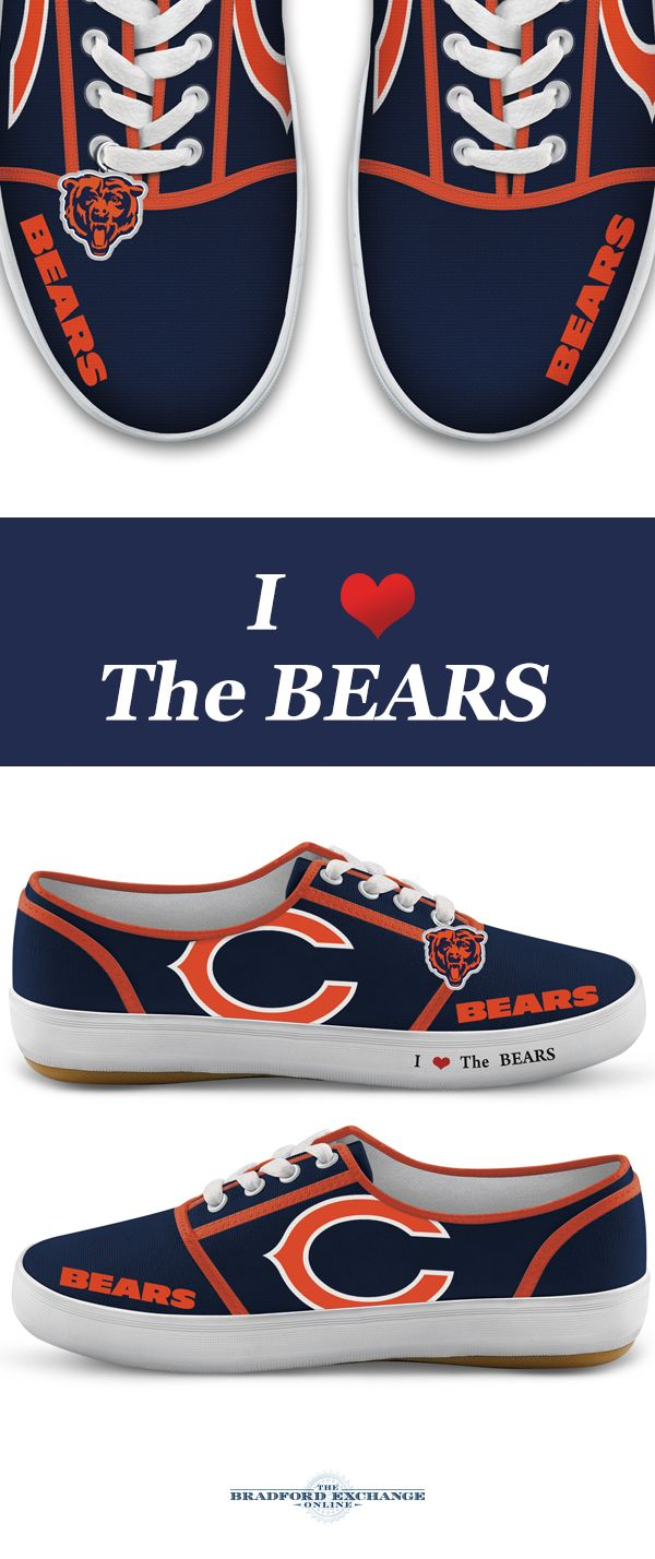 Discount NFL Licensed Chicago Bears Women's Canvas Sneakers | random  free shipping