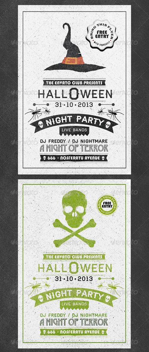 Typography Halloween Flyer Halloween Party Flyer