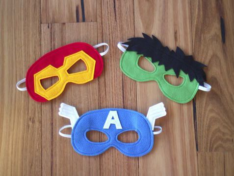 Superhero Masks - Iron Man, Hulk and Captain America Costumes (en ...