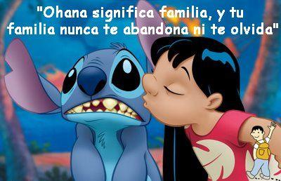 Frase Lilo Y Stich Ohana Significa Familia Frases Ohana Lilo