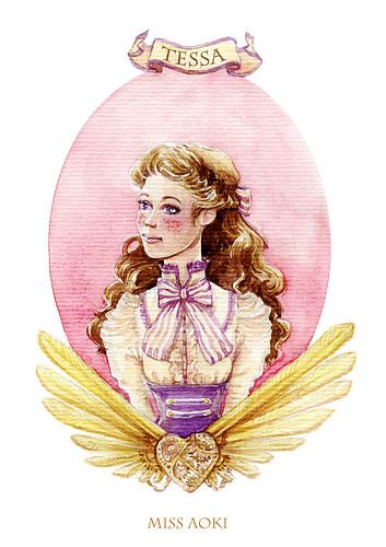 Tessa Gray The InfernalDevices characters by @miss_aoki. #watercolors #clockworkangel