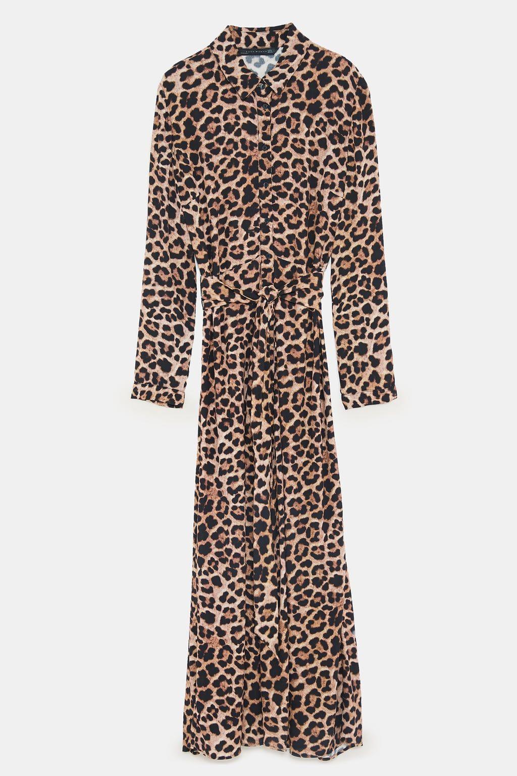 Image 8 Of Long Leopard Print Dress From Zara Print Maxi Dress Outfit Animal Print Shirt Dress Animal Print Maxi Dresses