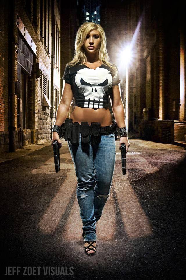 Babe with gun