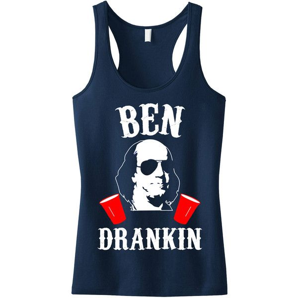 2970ca77331f4 Ben Drankin 4th of July Tank Top Navy Blue With White   Red Print... ( 25)  ❤ liked on Polyvore featuring tops