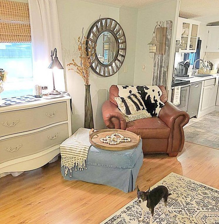 Fabulous French Cottage Mobile Home Renovation #beachcottagestyle