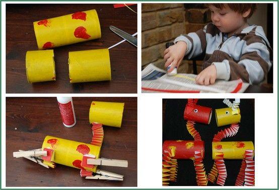 Animali Con Tubi Di Carta Igienica : Laboratori per bambini riciclo ancora animali le giraffe con