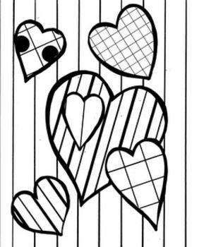 Valentine Language-art Coloring and Work Sheets ...