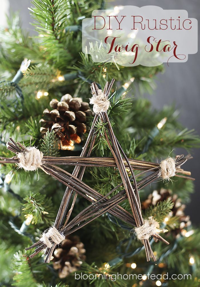 Handmade Ornament Diy Rustic Twig Star Yellowblissroad Com Diy Christmas Tree Ornaments Rustic Christmas Tree Christmas Decorations Rustic Tree