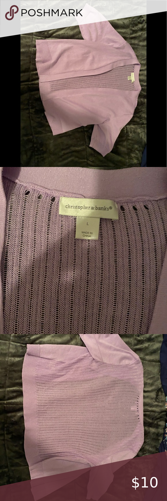Christopher & banks cardigan Lilac colored cardigan. Perfect to go over a dress or tank top. Christopher & Banks Tops