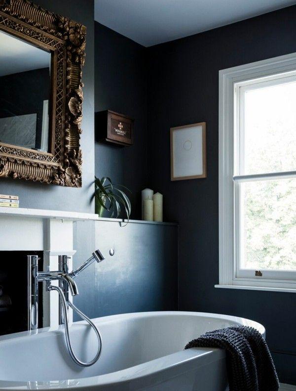 Schwarzes Badezimmer: 5 Vorteile und 50+ Ideen   schwarze Badezimmer ...