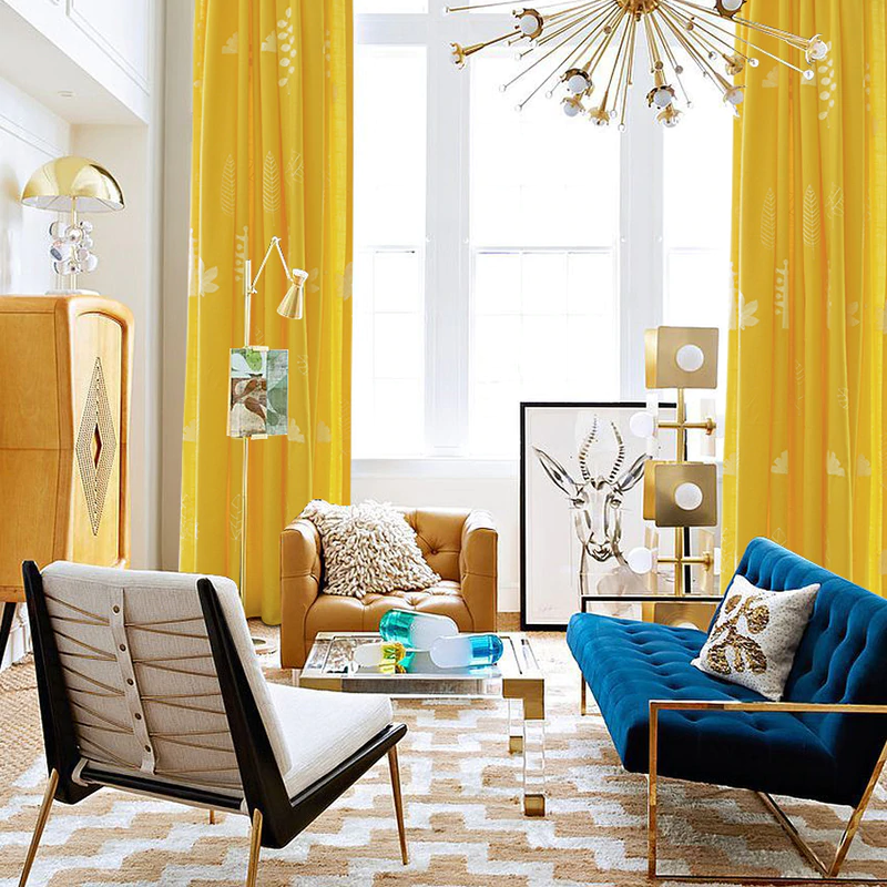 Blackout Curtains For Living Room Yellow Curtain With Embroidery Leaves Cotton Linen Curtain Solid Drapes Blinds White Tulle Curtains Aliexpress In 2020 Yellow Decor Living Room Yellow Living Room Yellow Curtains #yellow #drapes #for #living #room