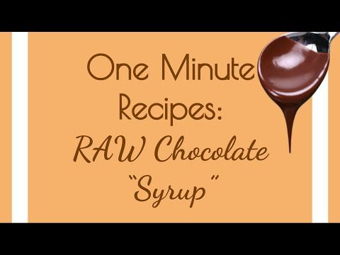 "Raw DIY Chocolate ""Syrup"" in Under One Minute - Delicious, homemade, vegan and RAW -- This chocolate syrup can be put on anything you enjoy chocolate with! Decadent and healthy, the best of both worlds :)"