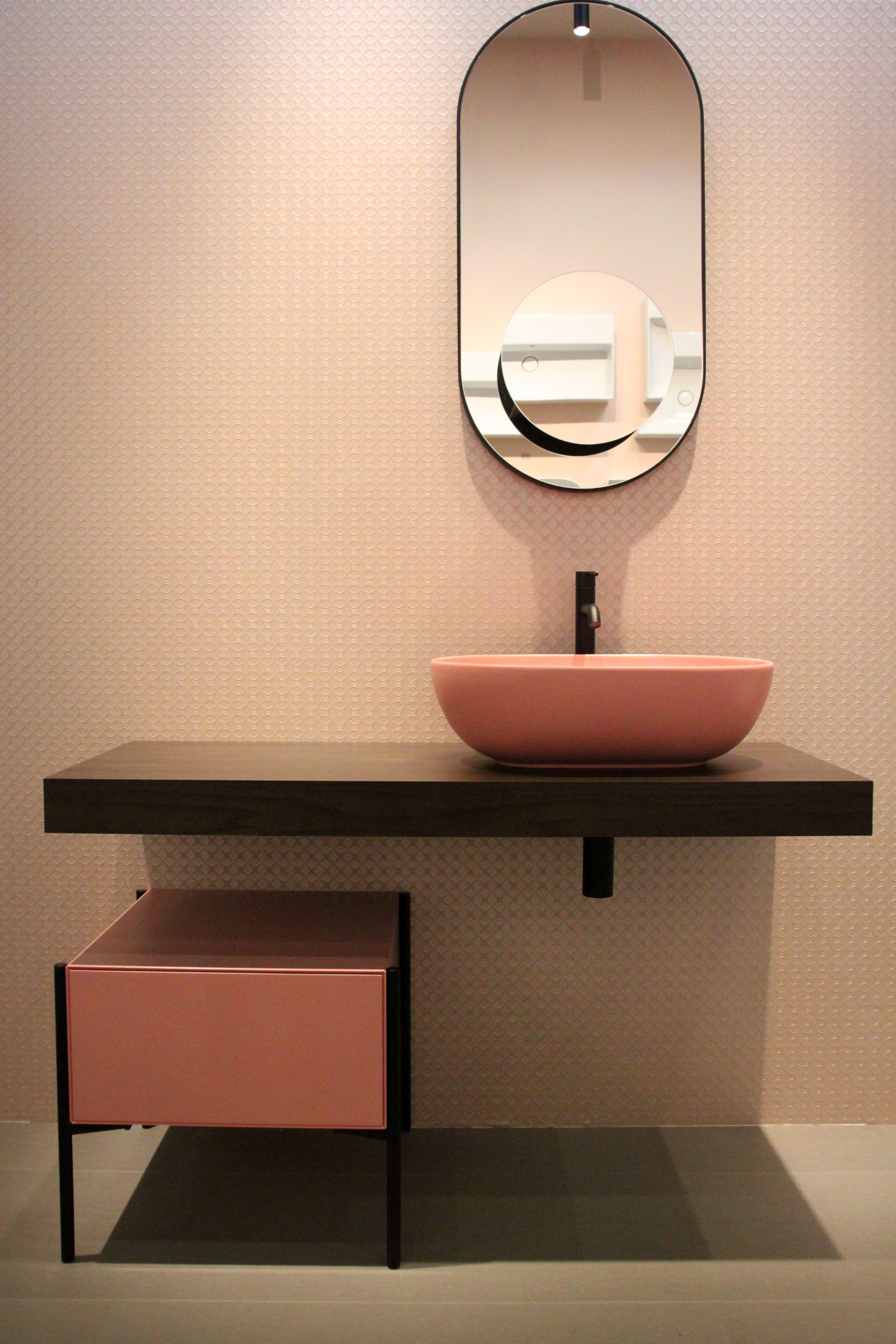 Bagno Rosa E Nero ambientazione bagno di ceramica globo con lavabo in ceramica