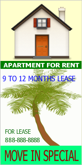 Pvc Banners For RentLease Apartment  To  Month In Uk