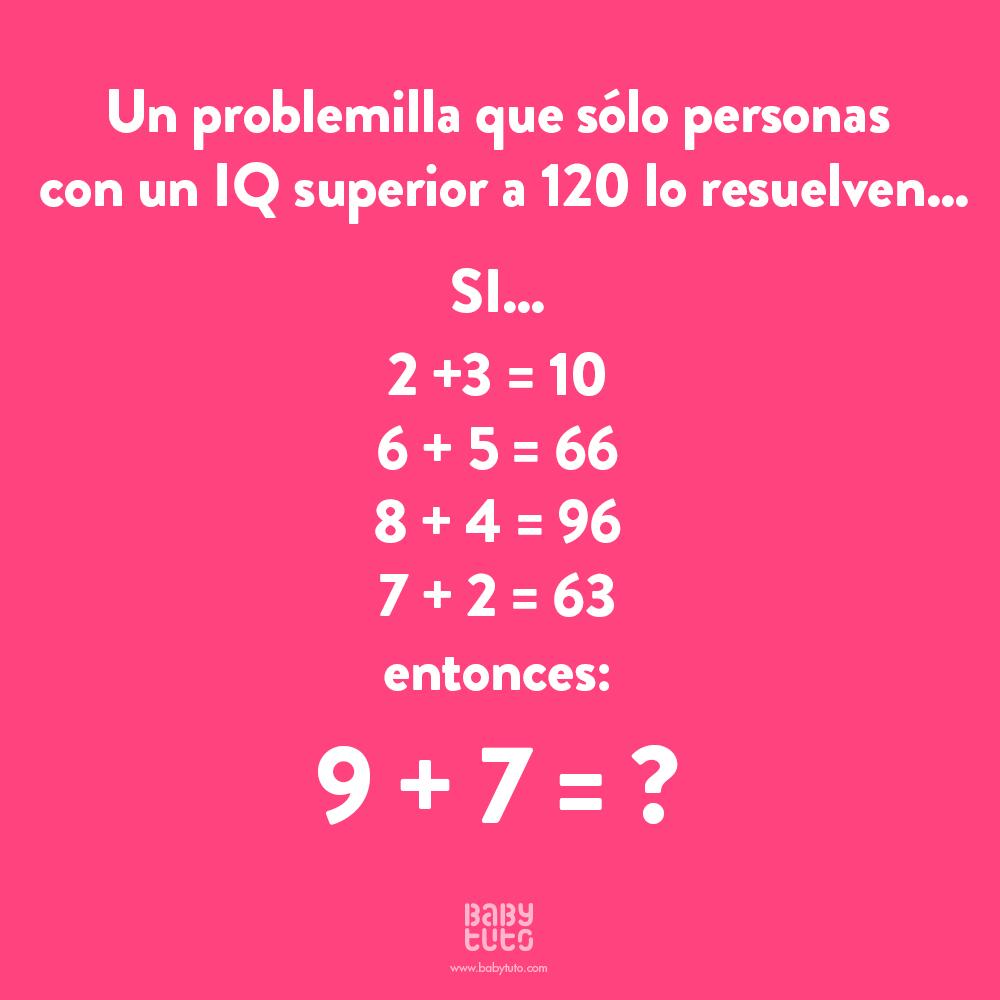 Tenemos Un Nuevo Desafío Matemático Para Nuestros Babylovers Sabes Ya La Respuesta Comparte Cuando Lo Resuelvas Usando Des Math Genius Math Humor Brain Gym