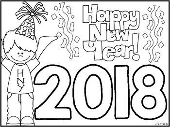freebie happy new year coloring sheet - New Year Coloring Pages