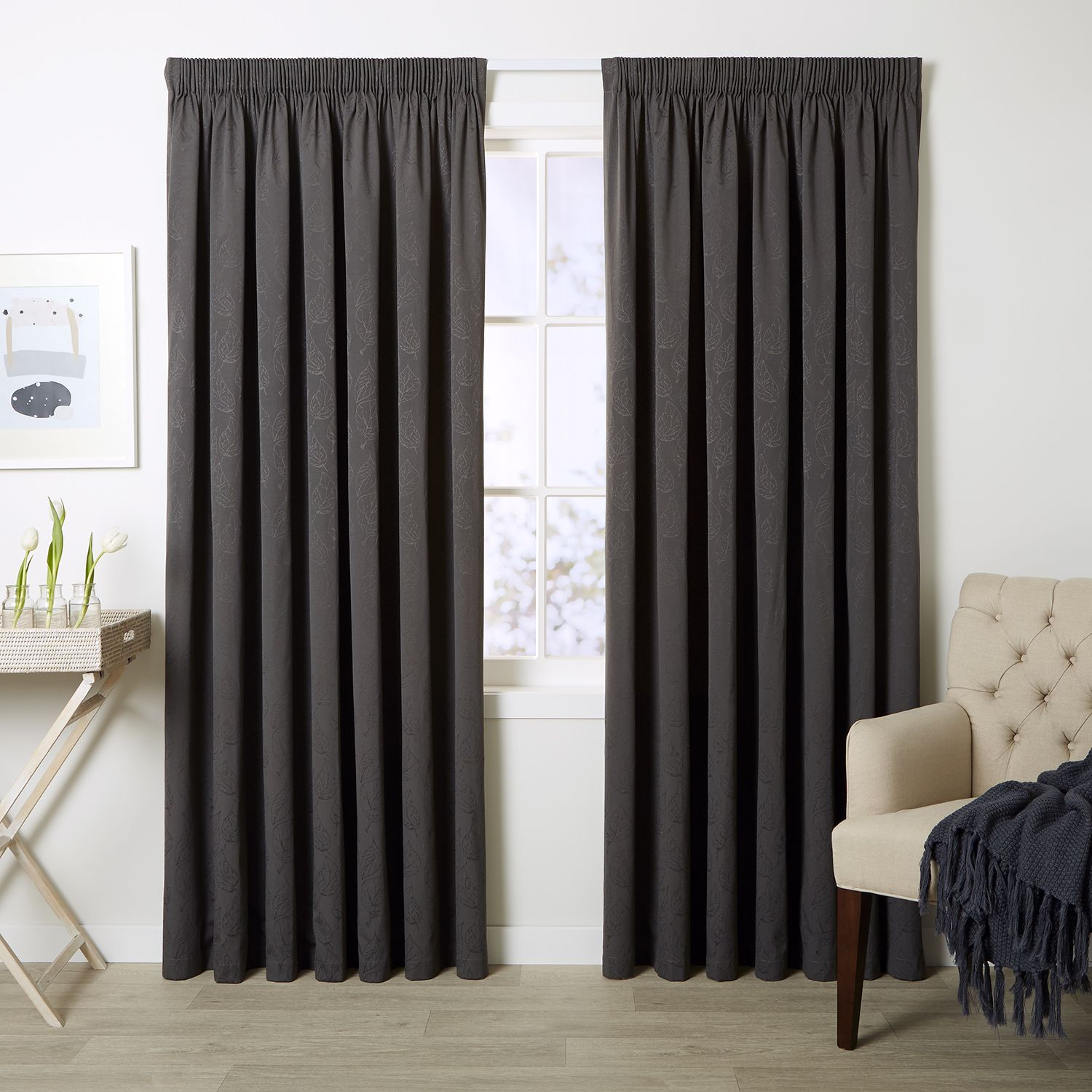 Haven Ash   Readymade Thermal Pencil Pleat Curtain   Curtain Studio Buy  Curtains Online