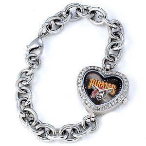 Ladies MLB Pittsburgh Pirates Heart Watch Jewelry Adviser Mlb Watches. $60.00