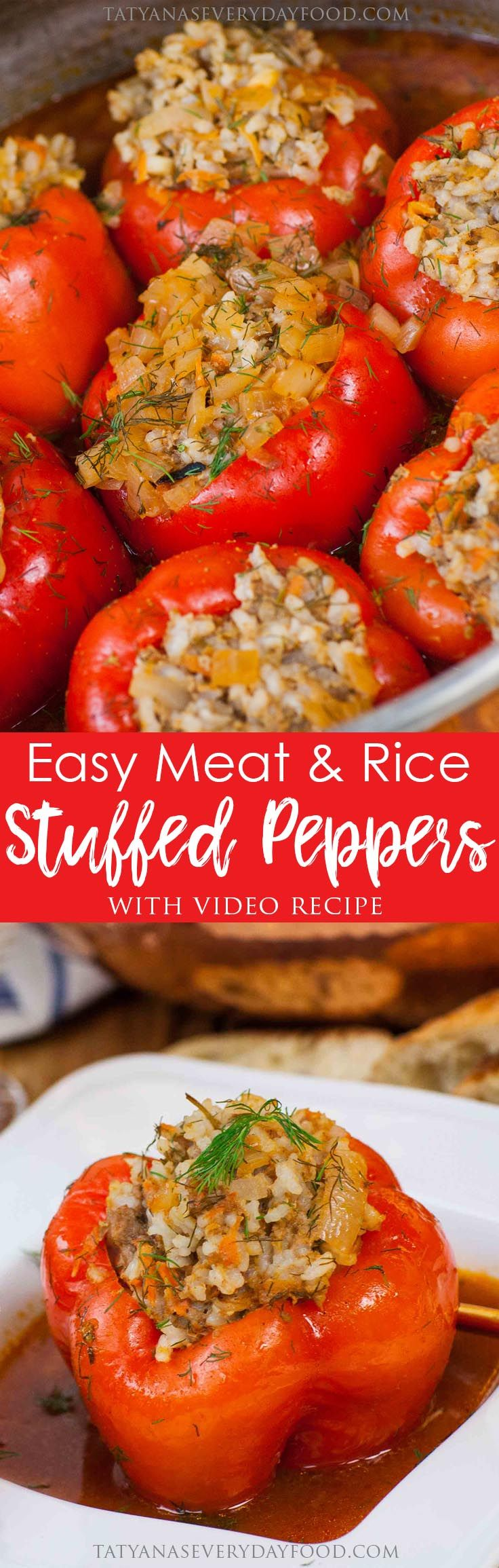 Easy meat rice stuffed peppers tatyanas everyday food dinner easy meat rice stuffed peppers tatyanas everyday food forumfinder Gallery