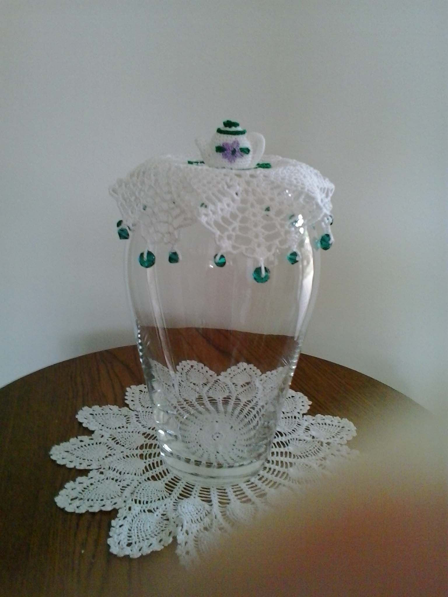 Milk Jug cover with crochet teapot on top | Crochet and etc ...