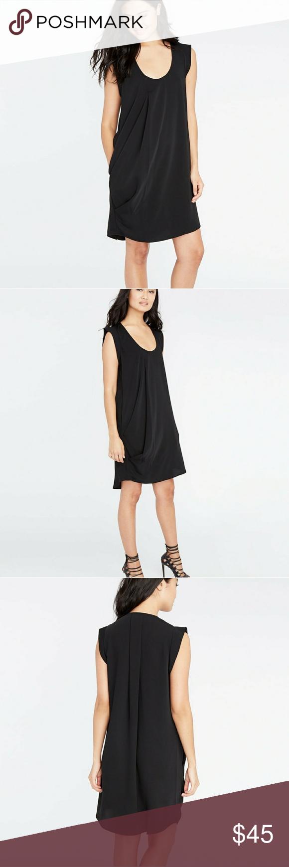 c0ea6d8d266 Scoop Neck · Rachel Roy Swoop Pleat Dress In Black NWOT Size L Rachel Roy  Size Large Swoop Pleat
