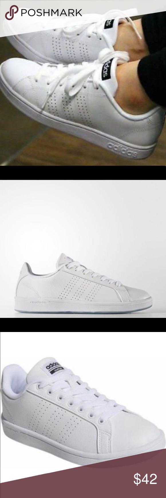 Adidas Neo Cloudfoam White Tennis Shoe *Sz info ⬇️ in 2020
